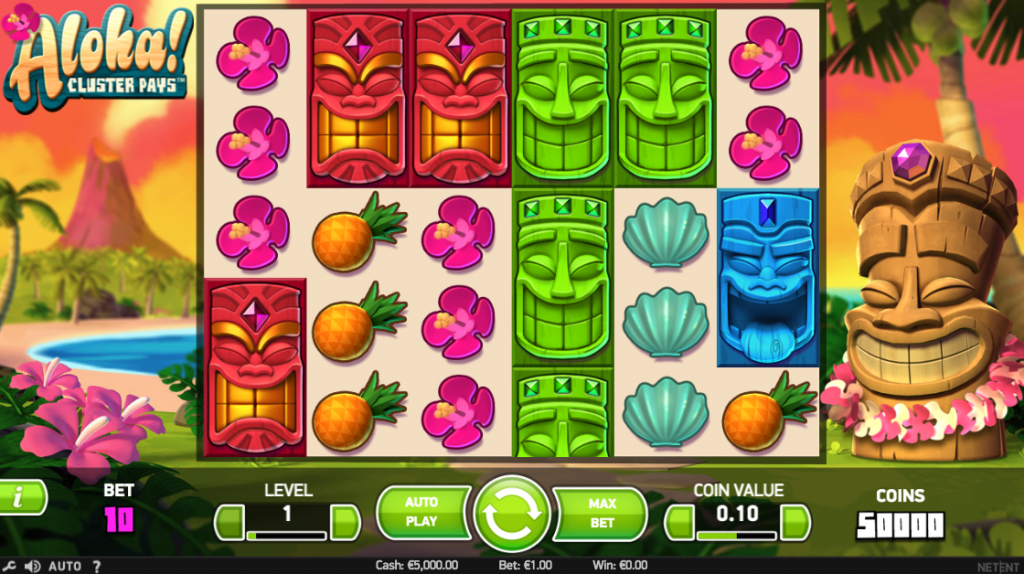 Aloha! Cluster Pays Screenshot