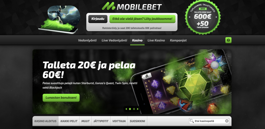 Mobilebet Kasino